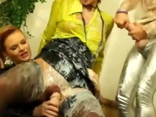 Pussy pounding lesbian sluts go for it at their house