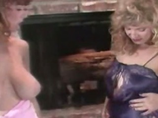 Christy Canyon and Rikki Blake  Hot Lesbian Scene