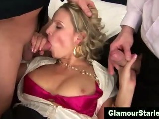 Sexy hot glam dp slut