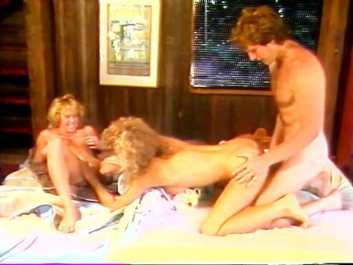 Group entertainment of sexy blonde