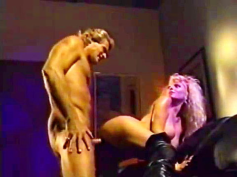 Nasty blonde whore from 70s porn video archive