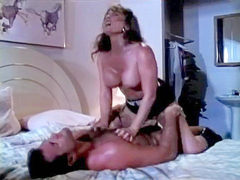 Lustful eighties porn babe seduces naive guy