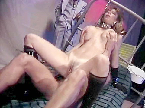Bdsm mistress lets the slave fuck her in 70s porn