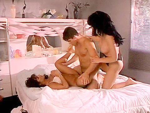Breathtaking threesome from vintage porn