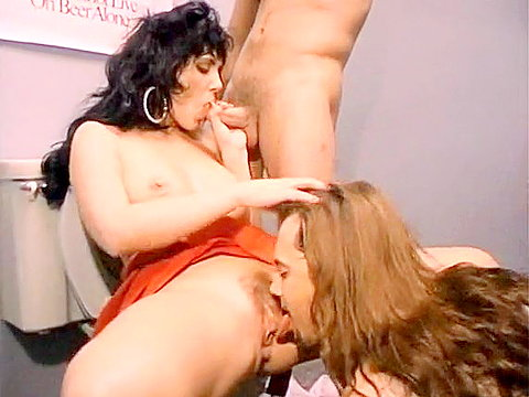 Jeanna Fine does a threesome in the club's toilet