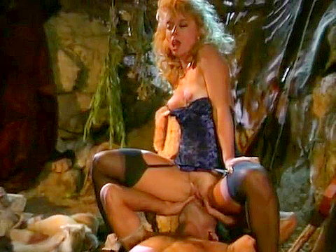 80's porn video of a barbarian fucking a blondie