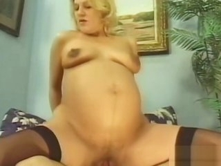 Blonde pregnant MOM fucked hard
