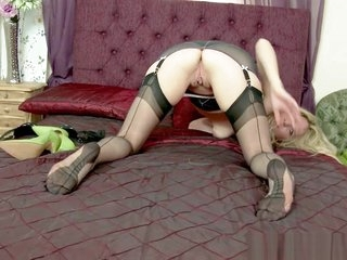 Blonde Milf slut teasing and..