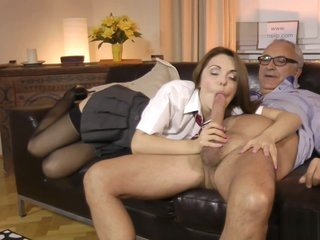 Cute euro amateur pussyfucked by older guy