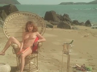 Soft core 1977 movie Vanessa - nice puffy nipples and full frontal bush