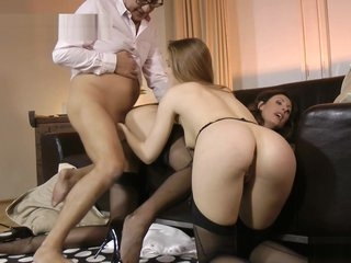 Teen nurse doggystyle banged by grandpa
