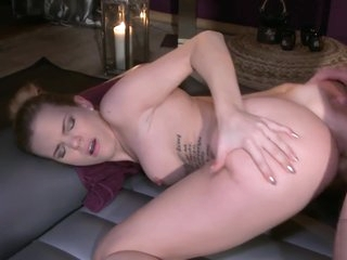 Classy babe drilled doggystyle during massage